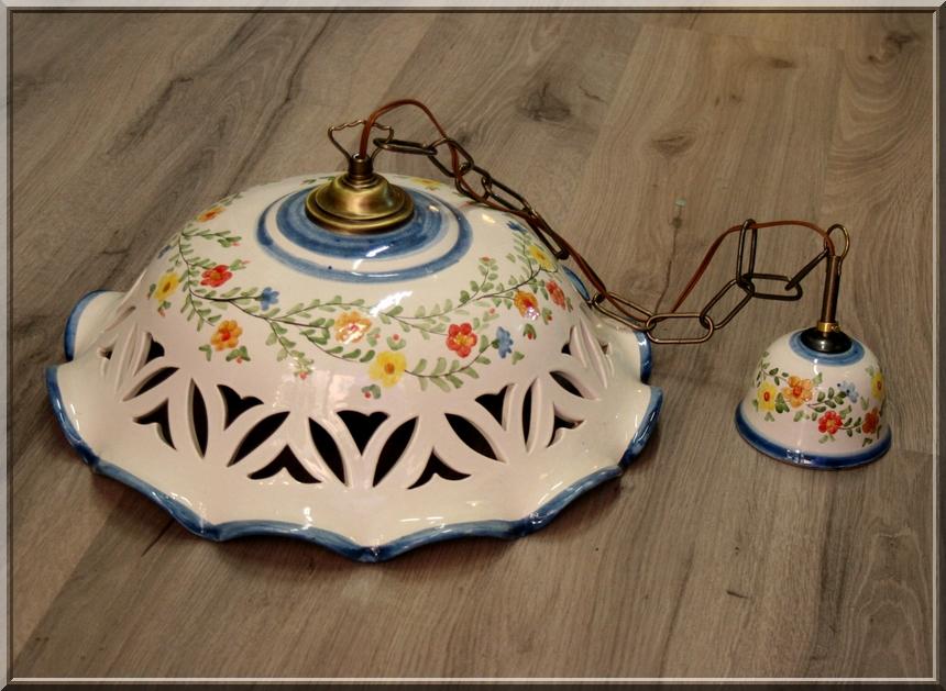 Lampadario Ceramica Di Vietri.Terra E Colore
